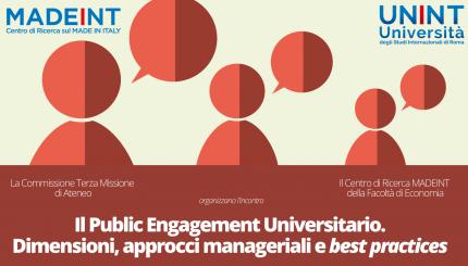 Il Public Engagement Universitario. Dimensioni, approcci manageriali e best practices