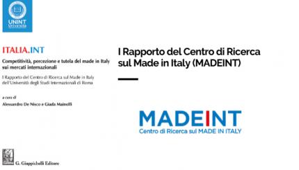 ITALIA.INT. Competitività, percezione e tutela del made in Italy sui mercati internazionali
