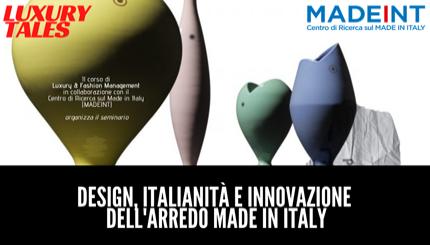 Design, italianità e innovazione dell'arredo made in Italy