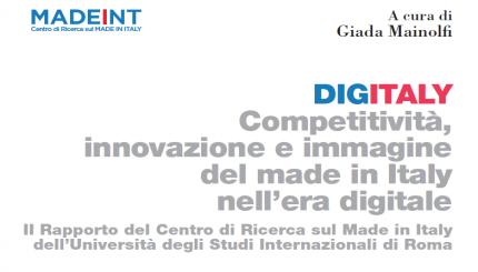 DIGITALY - Competitività, innovazione e immagine del made in Italy nell'era digitale